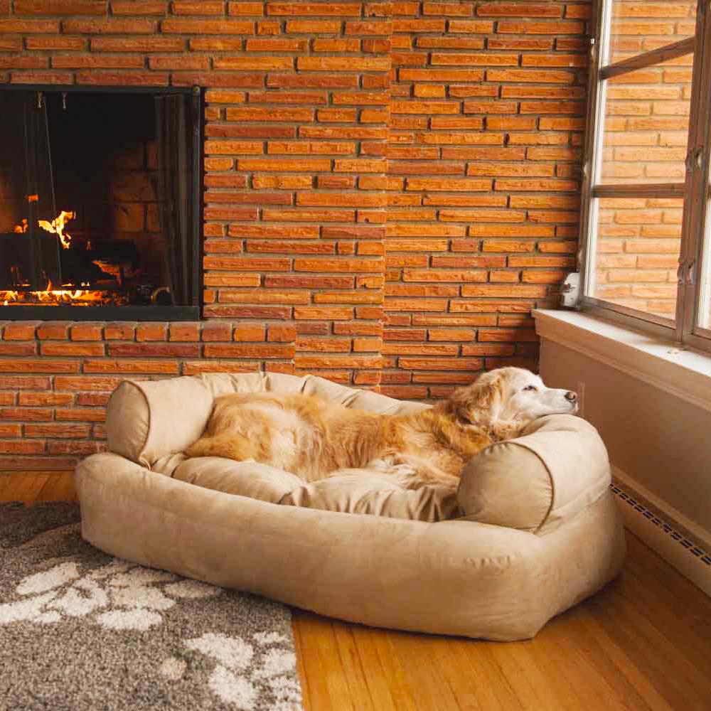 Snoozer Overstuffed Luxury Dog Sofa | Microsuede Fabric