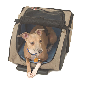 Snoozer Khaki Roll Around Carrier Pet Bed