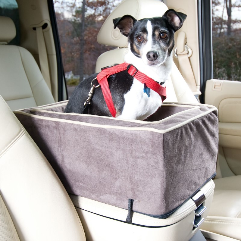 Pet Booster Seat >> Luxury Console Dog Car Seat with Microfiber | Lookout | Snoozer