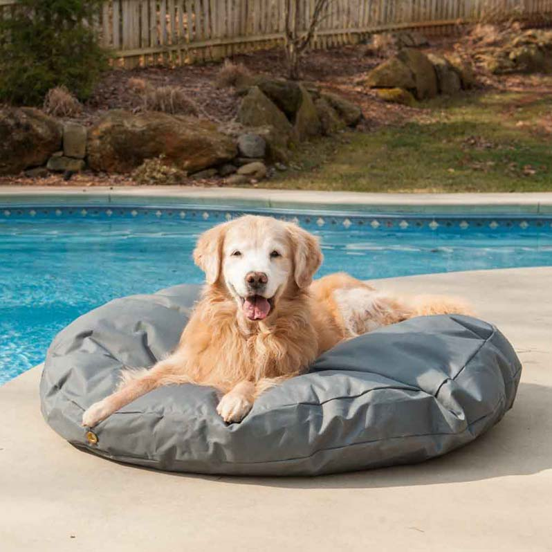 Replacement cover outdoor waterproof round dog bed for Garden pool for dogs