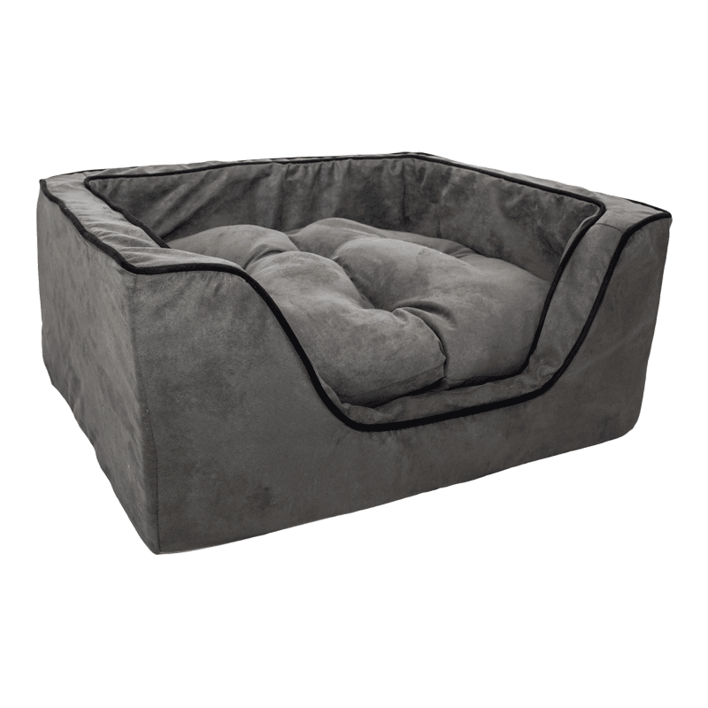 Snoozer Luxury Square Dog Bed W Microsuede Overstuffed