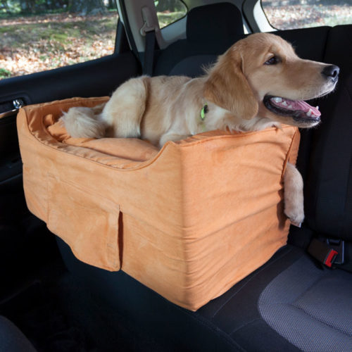 Large Luxury Lookout II Dog Car Seat with Microsuede