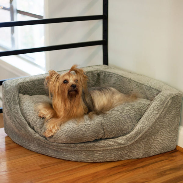 Luxury Overstuffed Corner Dog Bed - Show Dog Collection