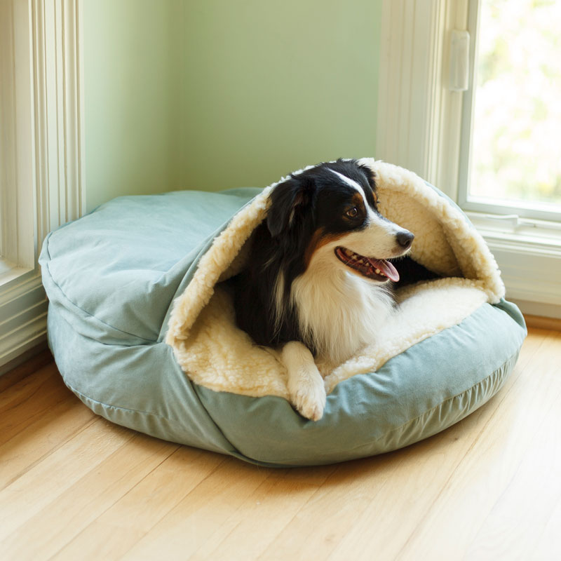 Luxury Cozy Cave™ Dog Bed with Microsuede