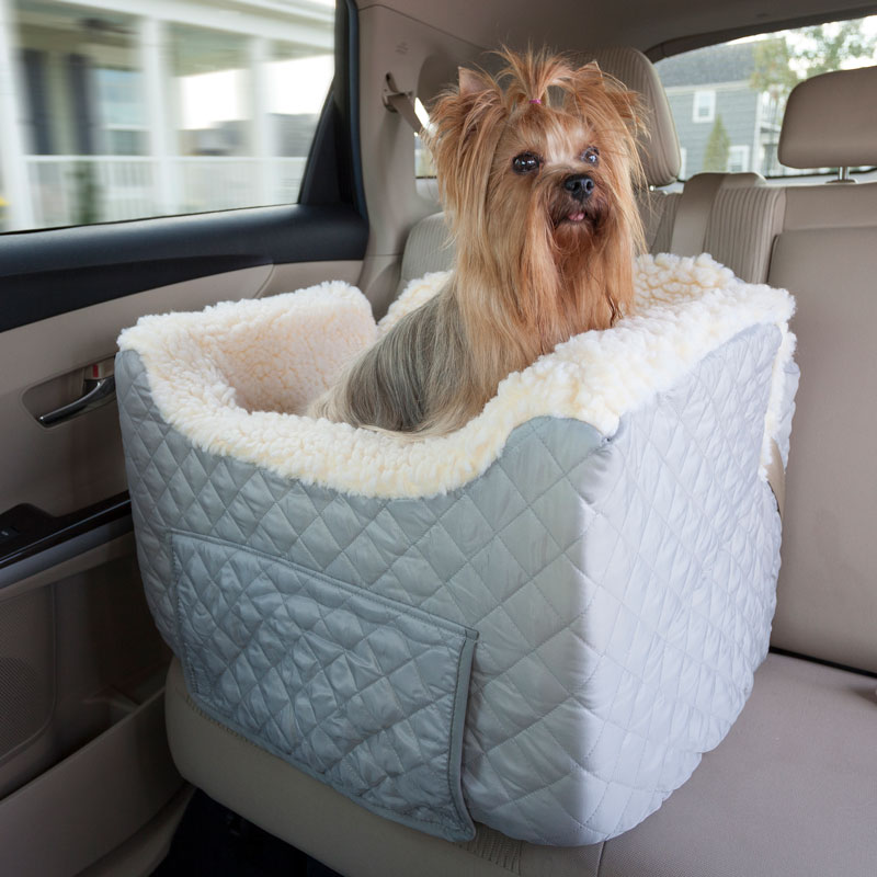 Lookout II Dog Car Seat with Storage Tray