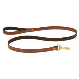 Handmade Leather Leash - Golden Oak