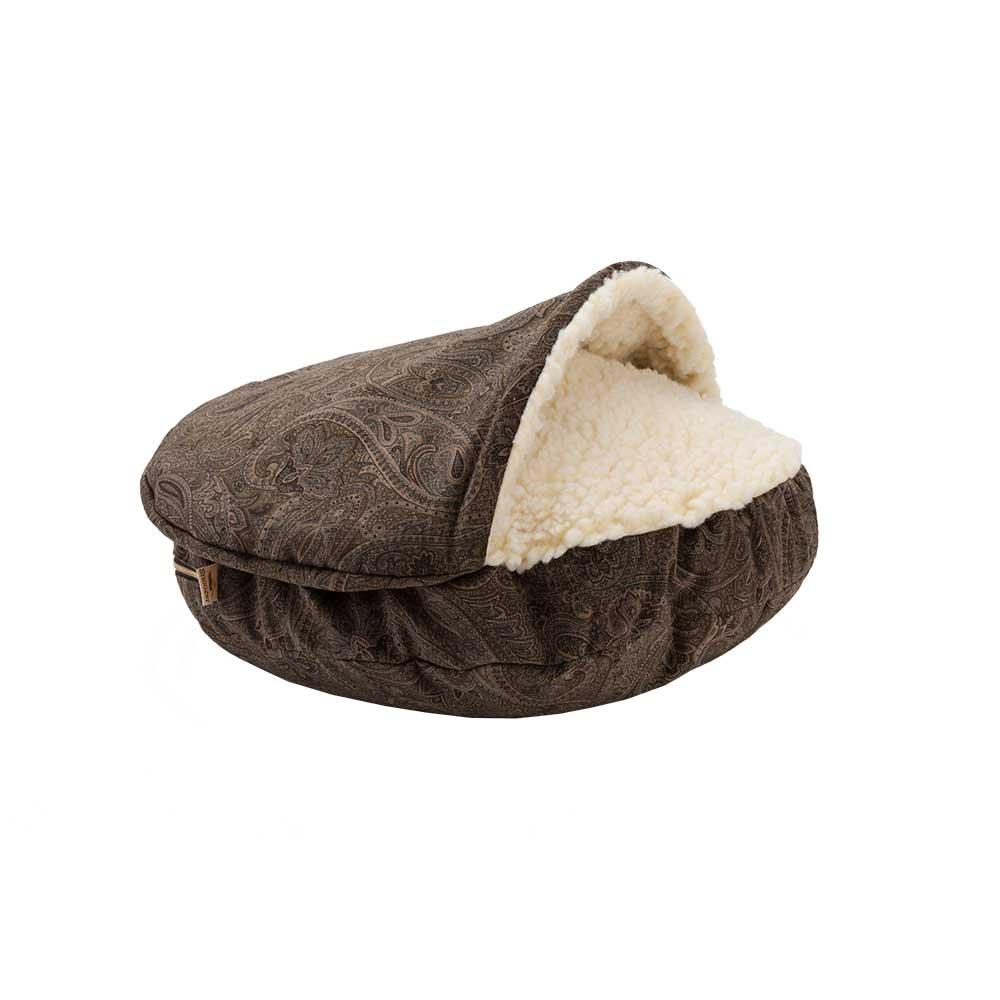 Snoozer-luxury-cozy-cave-dog-bed-laurel-mocha