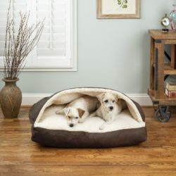 Luxury Cozy Cave® Rectangle Pet Bed with Microsuede