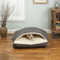 Luxury Cozy Cave® Square Pet Bed with Microsuede
