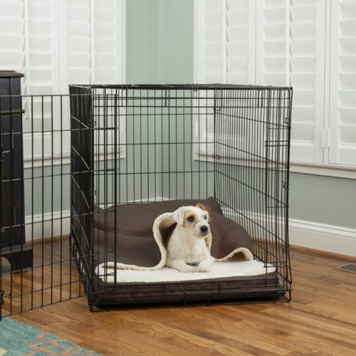 Luxury Cozy Cave® Crate Pet Bed with Forgiveness Foam
