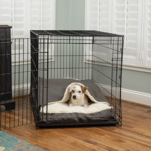 Luxury Cozy Cave® Crate Pet Bed with Microsuede
