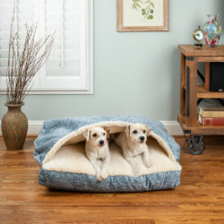 Snoozer Square Cozy Cave Dog Bed - Show Dog Collection