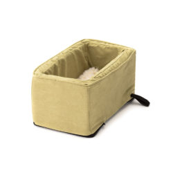 Luxury Console Dog Car Seat with Microfiber - Lime