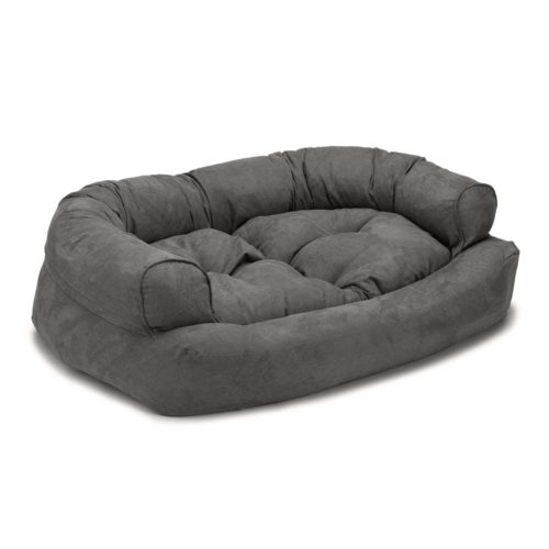 Overstuffed Luxury Dog Sofa - Anthracite