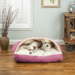 Luxury Cozy Cave® Rectangle Dog Bed - Pink