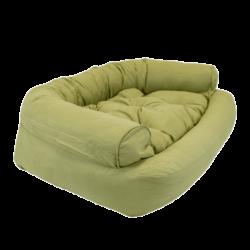 Overstuffed Luxury Dog Sofa - Lime