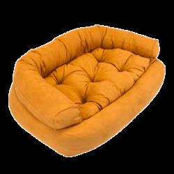 Overstuffed Luxury Dog Sofa - Orangeade